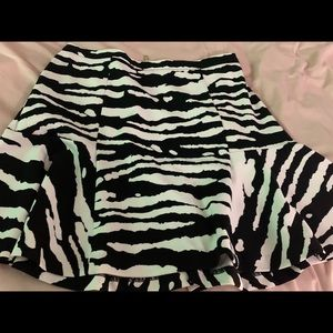 Michael Kors zebra print mini skirt